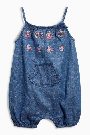 Buy Denim Embroidered Dungarees 0mths 2yrs Online Today At Next