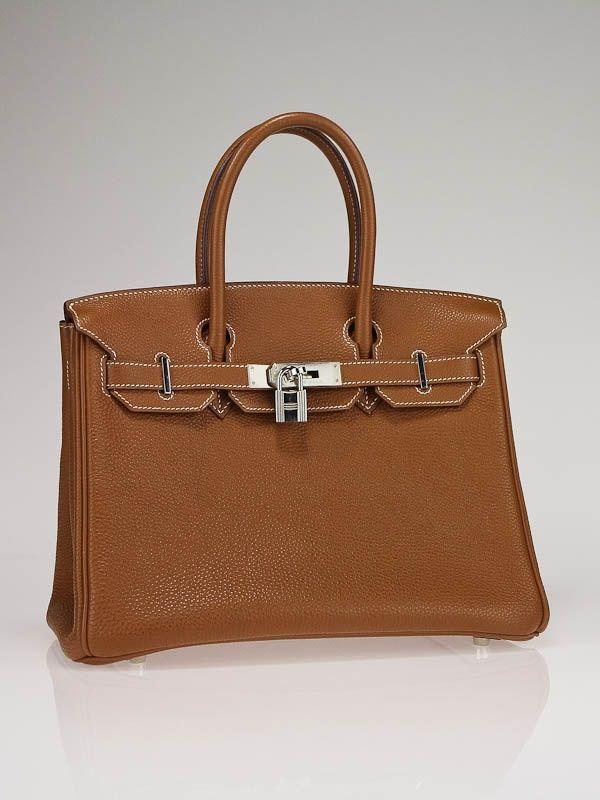 29cb89df98e8 Hermes 30cm Gold Togo Leather with Palladium Hardware Birkin Bag  9750