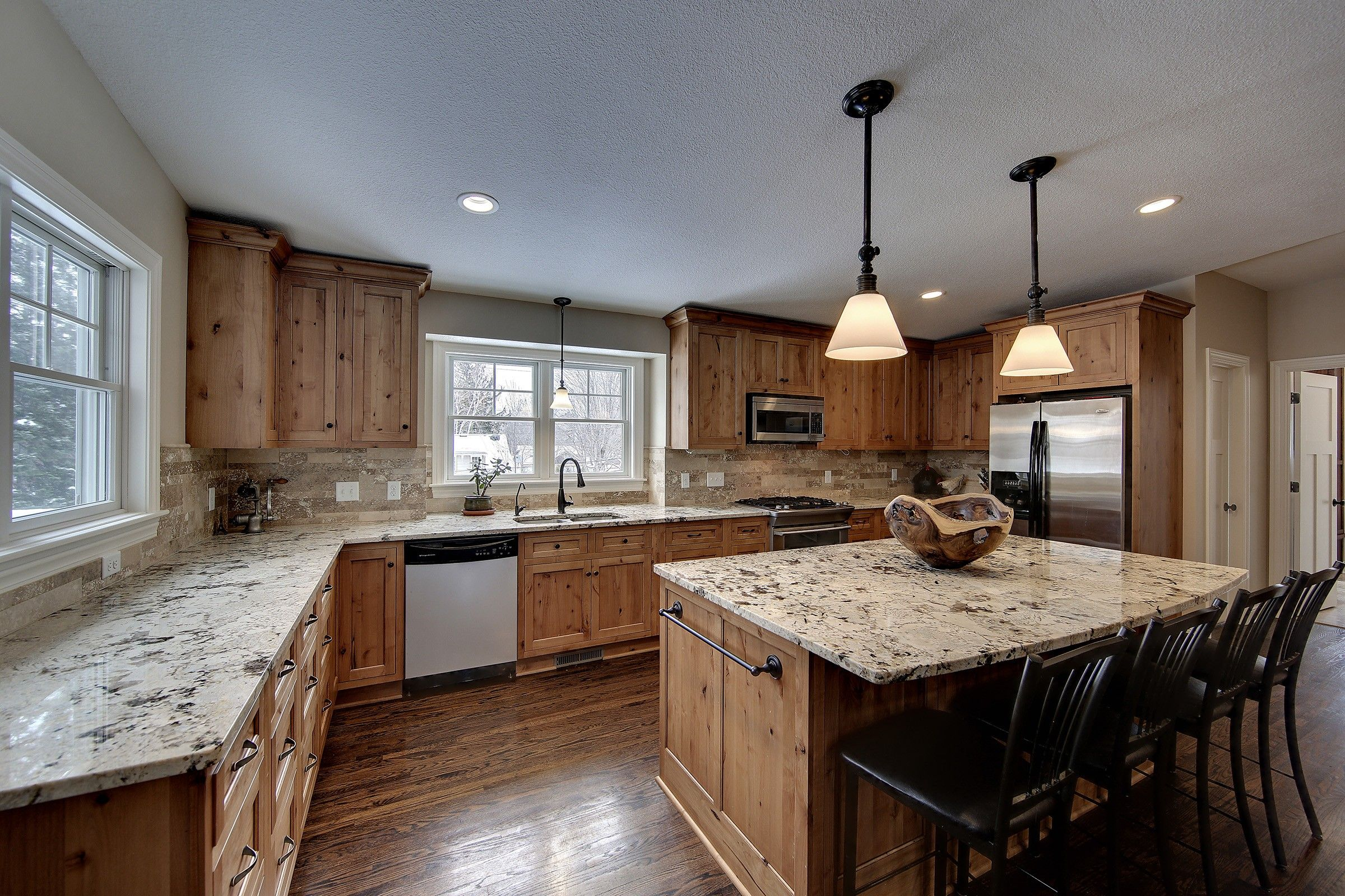 Alaska White granite counters, alder cabinets, drawers for ... on Pictures Of Granite Countertops With Maple Cabinets  id=45465
