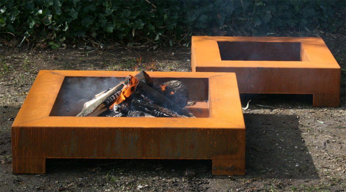 feuerschale cube design aus cortenstahl stahl feuerschale feuerschalen pinterest gardens. Black Bedroom Furniture Sets. Home Design Ideas