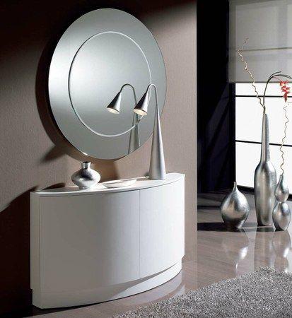Recibidores modernos con personalidad foyer recibidor for Espejos originales recibidor