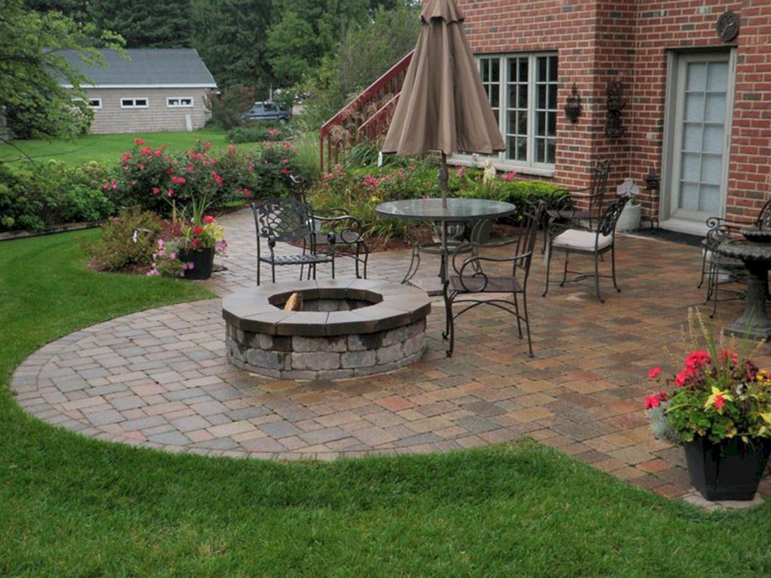 Medium Of Hardscape Backyard Ideas