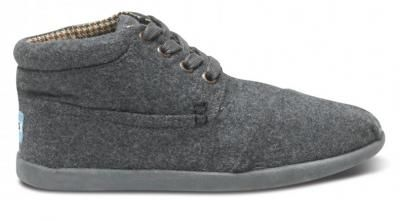 TOMS Grey Wool Youth Botas  #MountainHighOutfitters #Toms