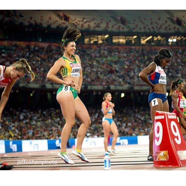 #MichelleJenneke #AUS loosens up, before the 100 meter hurdles semi final at the 2015 World Championships in Beijing.  #Beijing2015 #jeffcohenphoto  Trackandfieldimage.com  #trackandfield #athletics #trackgirl #athlete #hurdles #australia #jenneke #happy @mjenneke93 @spikesmag