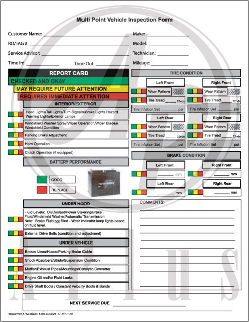 ford multi point inspection pdf