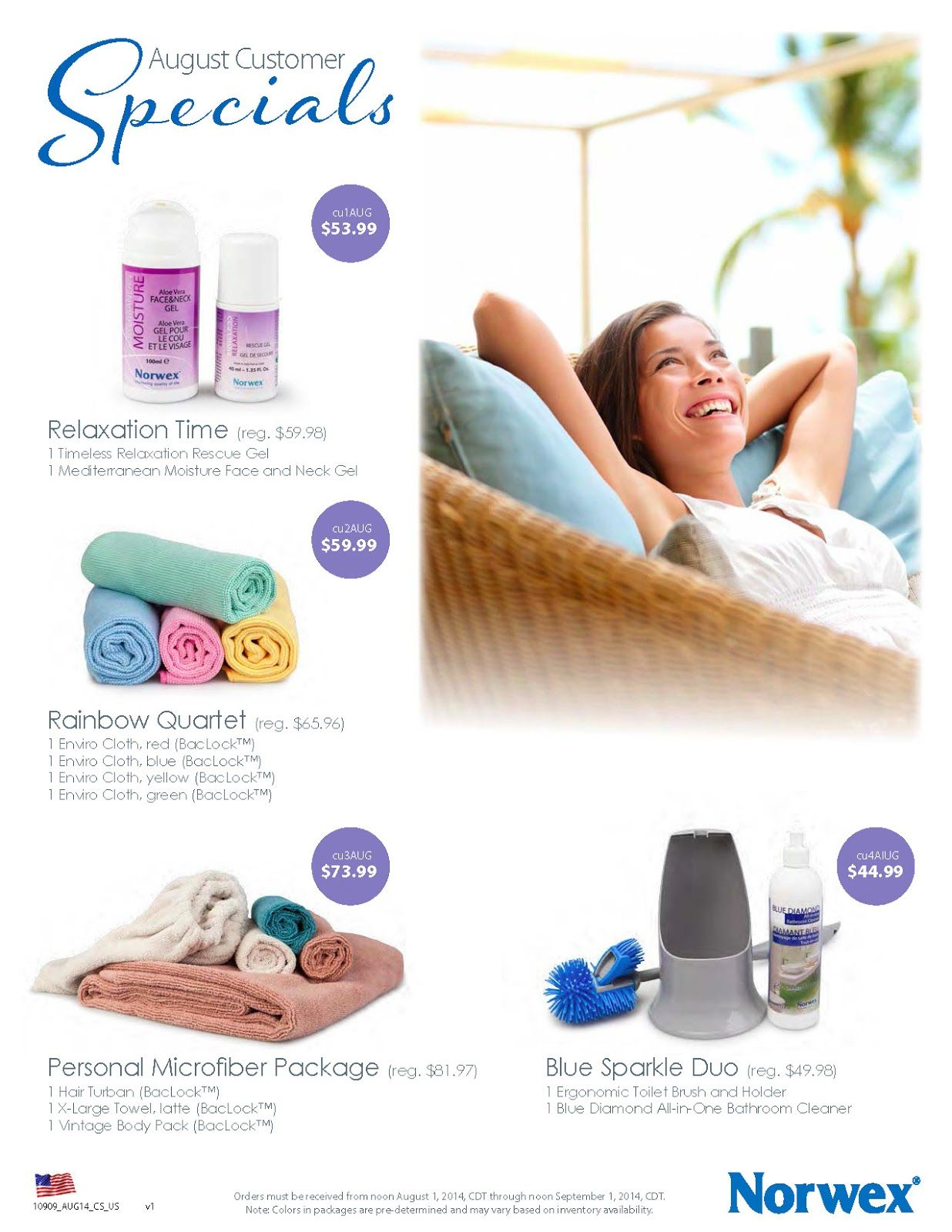 Norwex August 2014 Customer Specials. http//www