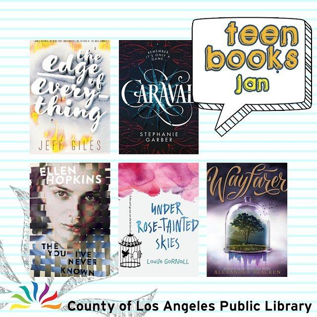 Check out our monthly list of new Teen fiction! Start the new year with your favorite authors. Visit our website >> Books & Media. #lacountylibrary #lacounty #library #reading #books @jeffmgiles @stephanie_garber @ellenhopkinsauthor @alexbracken
