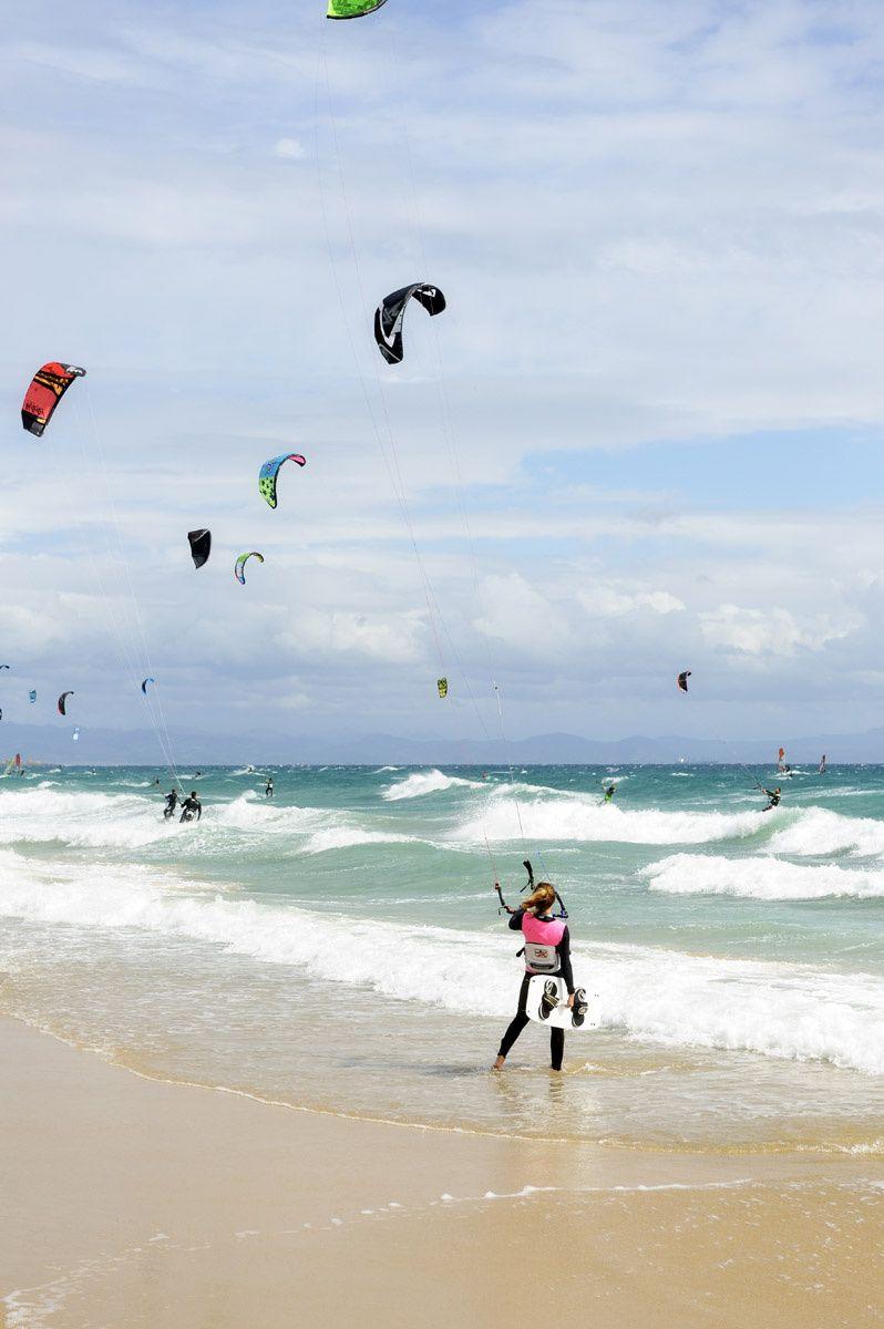 La playa de Los Lances, Tarifa, paraíso kitesurfero