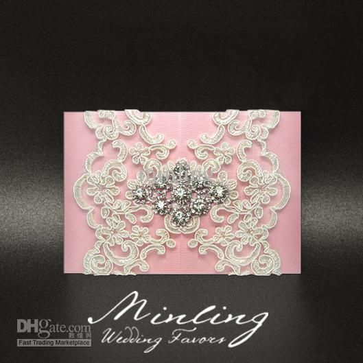 30pcs lot handmade luxurious wedding invitation cards pink wedding