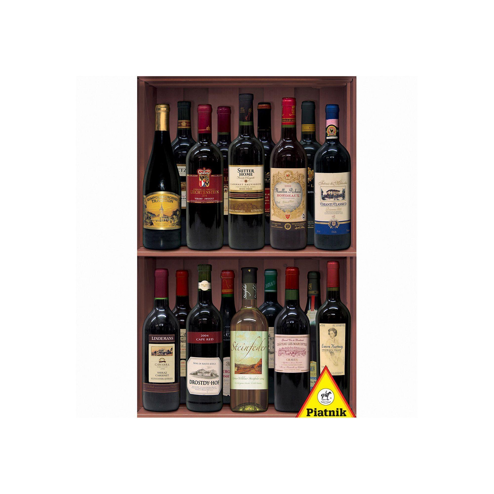 Piatnik Wine Bottles 1000-pc. Jigsaw Puzzle, Multicolor   PC and ...