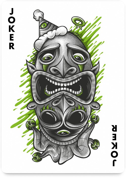 Joker by Mike Friedrich - http://playingarts.com/cards/mike-friedrich/