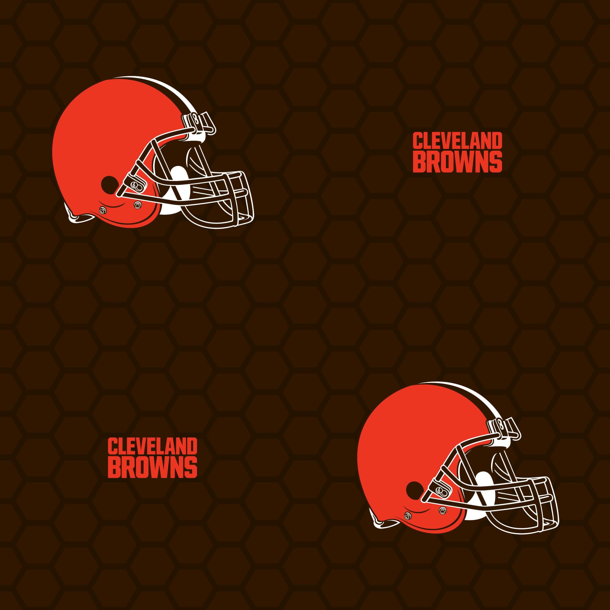 Cleveland Browns Logo Pattern Brown Officially Licensed