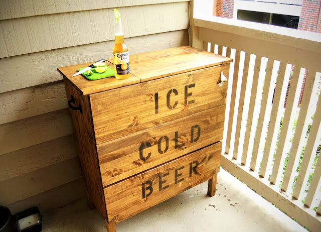 Materials:TARVA 3-drawer chest  Description:Summer has arrived in Texas, which keeps you struggling to keep your drinks cool out on the balcony. The o