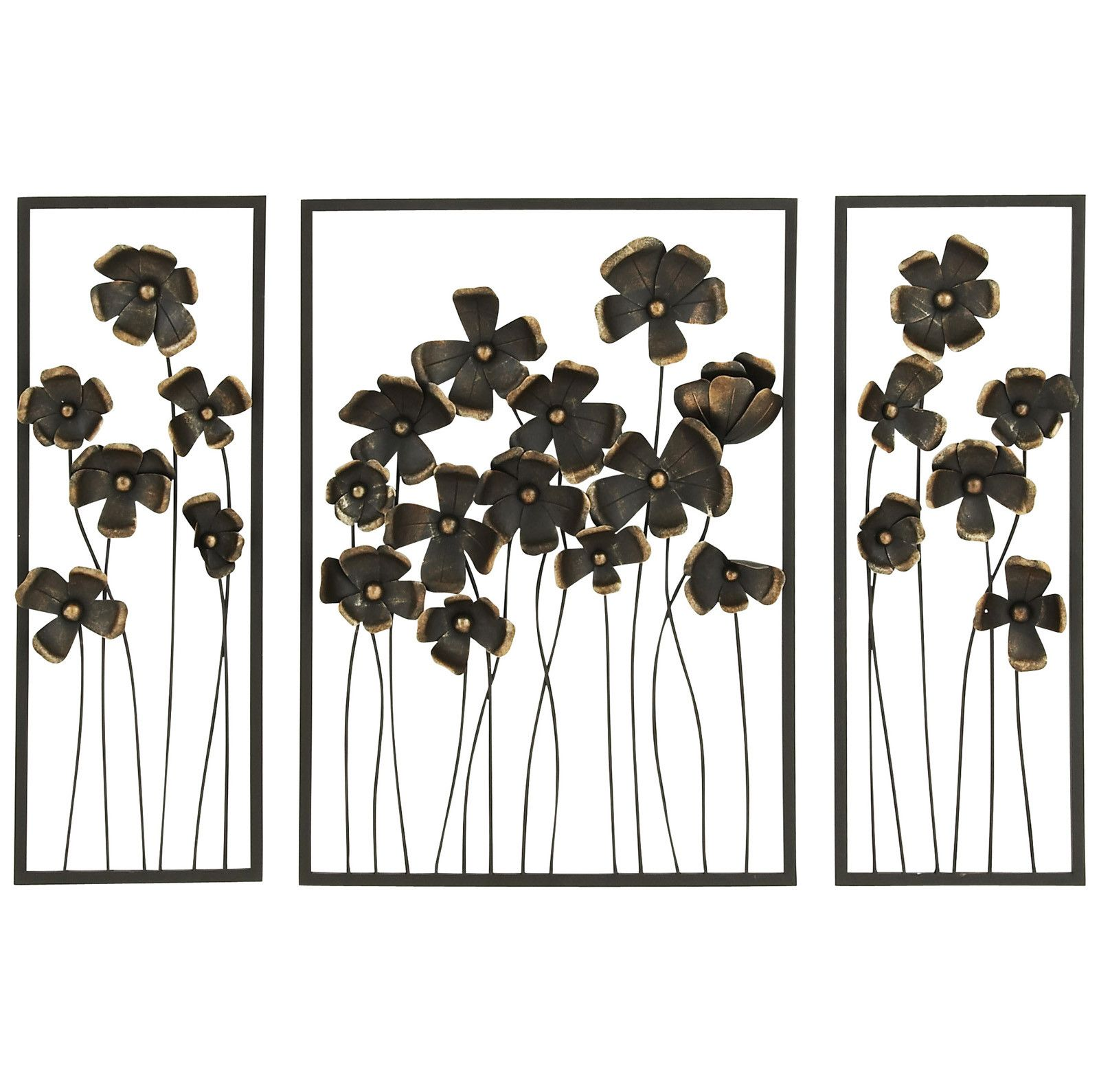 piece wild flowers high outdoor metal wall décor set products