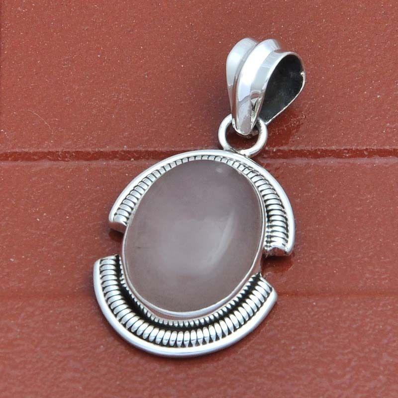 Rose quartz 925 sterling silver pendant 622g djp2749 handmade rose quartz 925 sterling silver pendant 622g djp2749 handmade pendant aloadofball Gallery
