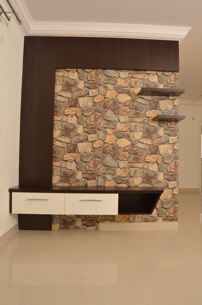 Living Room Wall Panel Design: Tv Unit Online Asian Style Living Room By Homify Asian