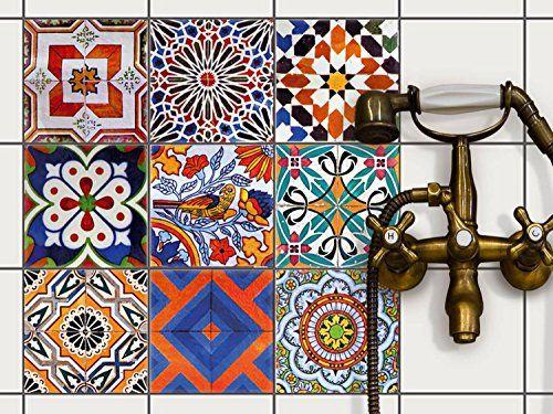Décoration carrelage autocollant - salle de bain et cuisi   - percer carrelage salle de bain