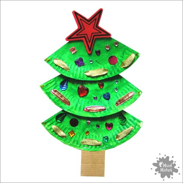 Mud Mates Messy Play Blog Paper Plate Christmas Tree Create a super cute paper plate  sc 1 st  Pinterest & Mud Mates Messy Play Blog: Paper Plate Christmas Tree Create a ...