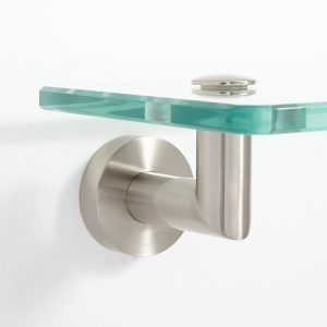 Glass Bathroom Shelf Satin Nickel Httpepochjournalorg