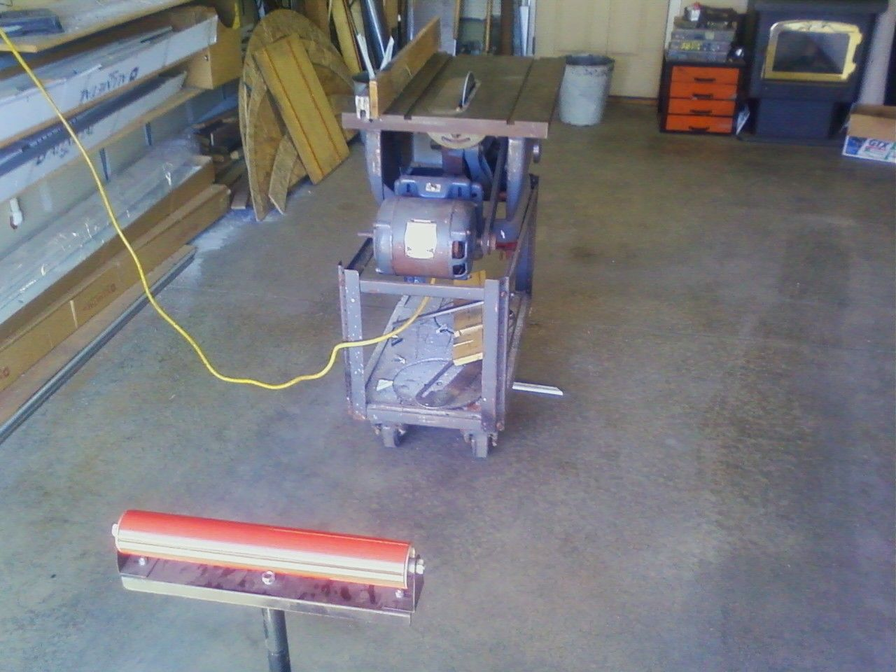 """First... cut your foam to the desired shape. I'm doing ceiling beams so I set up the gate on my table saw to 7"""". You can use a jig saw, sabre saw, Skil saw, hand saw or what ever you have. Remember... real wood has saw marks."""