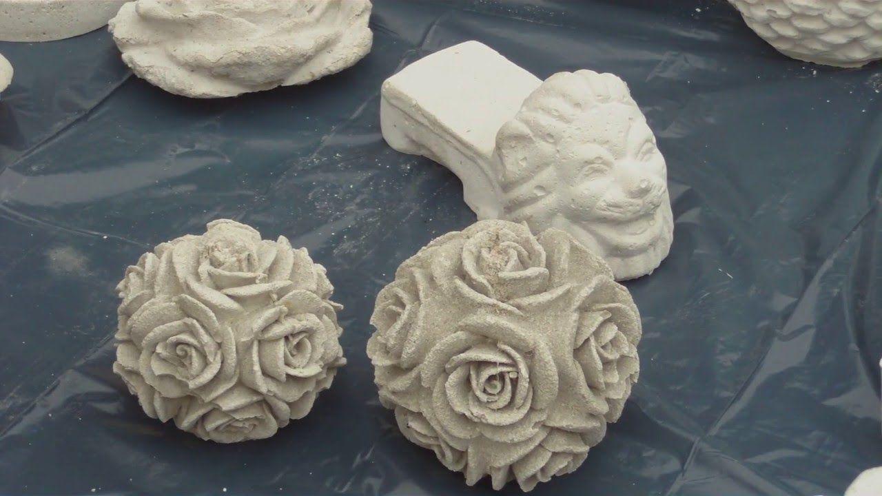 DIY - Beton giessen - Silikonform einteilig/ zweiteilig Rosenkugel ...
