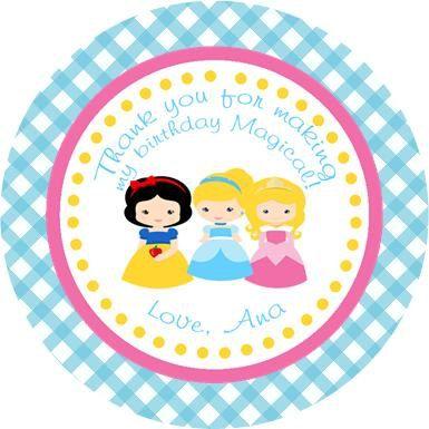 Disney Princess gift tags