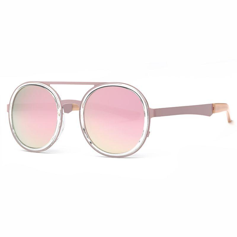 Fashion Sunglasses Women Round Sunglasses Famous Lady Brand Designer Vintage Hot Street Sunglasses Coating Mirror Glasses UV400
