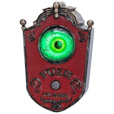 Gemmy Lighted Eyeball Animated Doorbell Gemmy Industries - lowes halloween inflatables