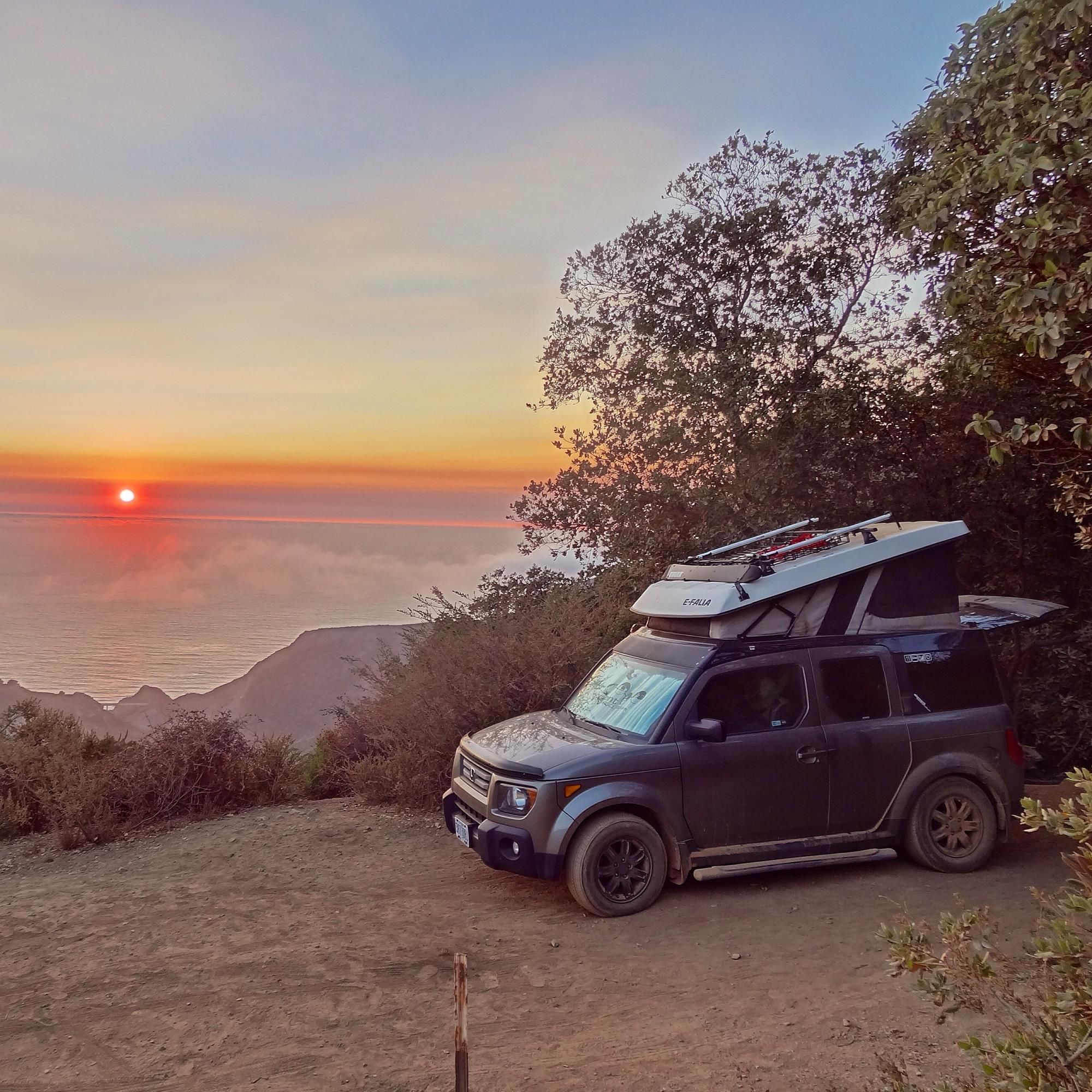 Small Car Camper Modified Honda Element For Camping Great Idea When A Small Car Is