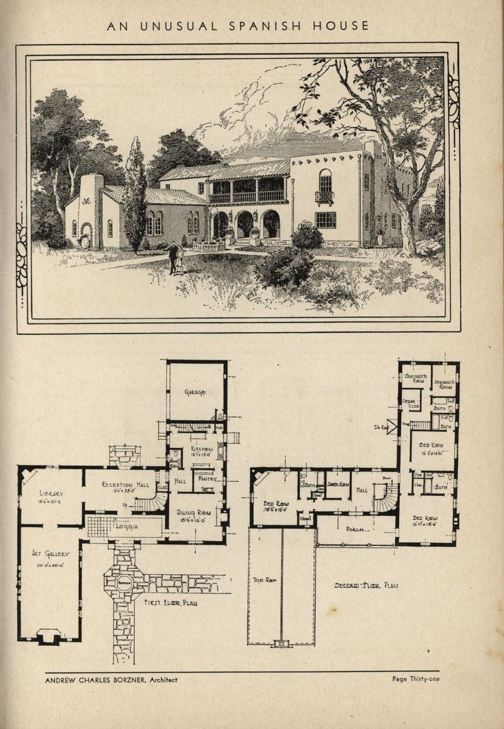 198dae2a7a8837e23c002b7de32edc29 Jpg 736 1064 Colonial House Plans Spanish House Spanish Style Homes
