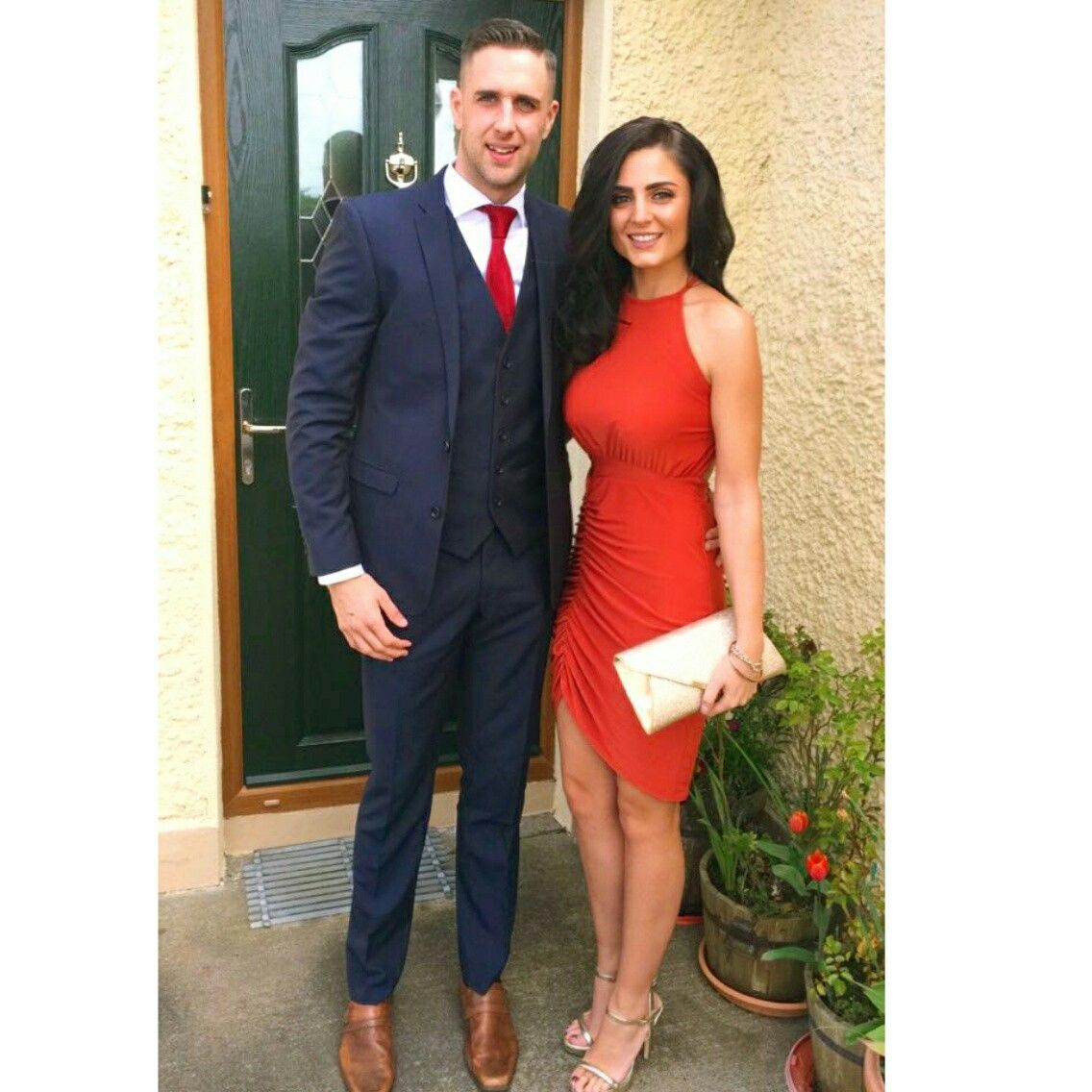 Summer Wedding Outfit Ideas: Suited And Booted Wedding Attire Couple Summer Rustic