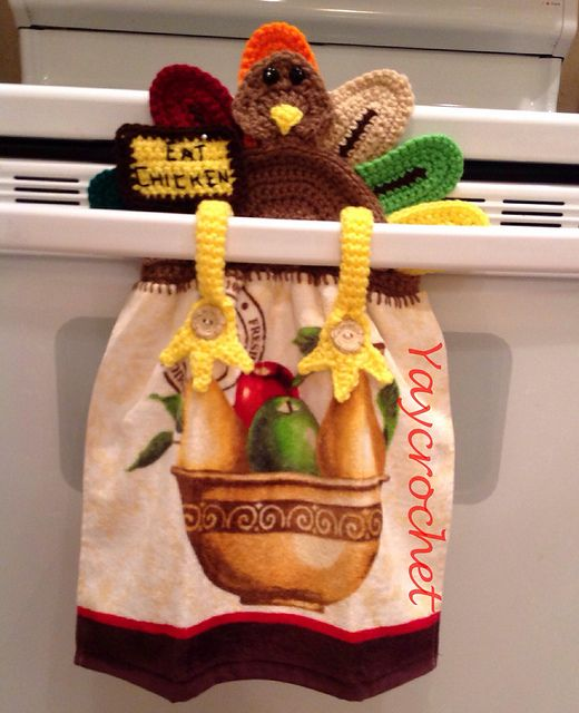 HOLIDAY TRILOGY TOWEL TOPPERS pattern by Patricia Marie | Crochet ...