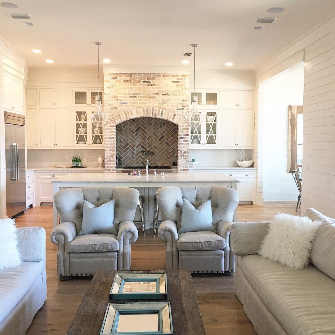 Living Room Style Kitchens: I Dig Symmetry- Can You Tell? #coastalfarmhouse