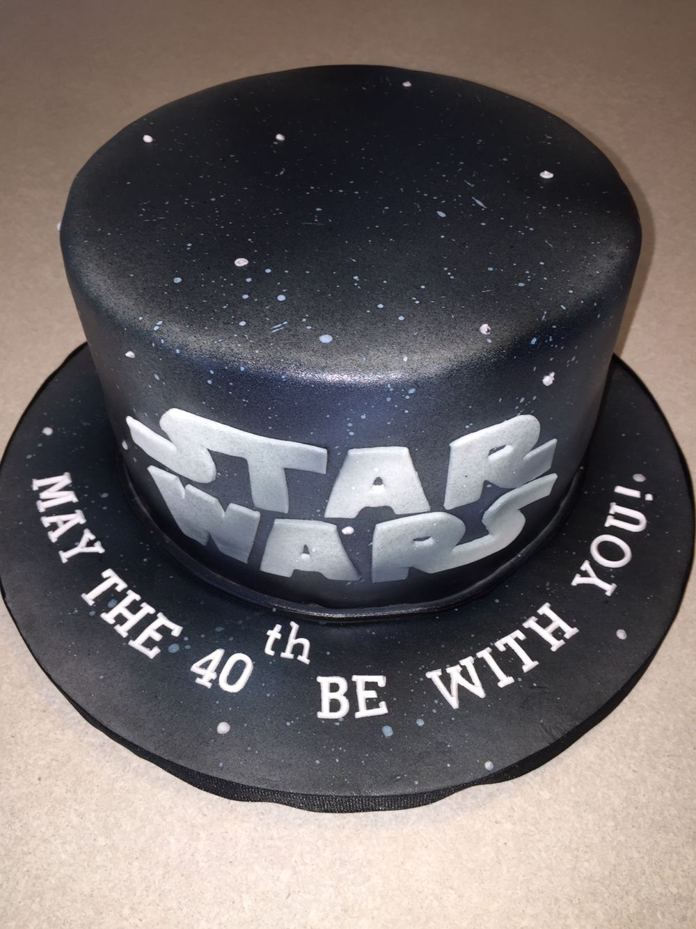 May The 40th Be With You Star Wars Cakes Pinterest