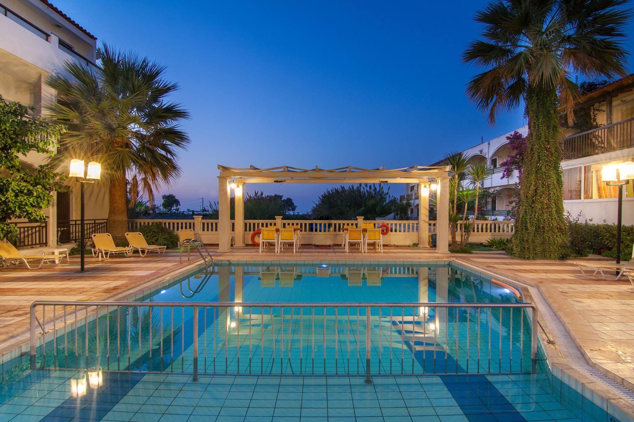 The Pool At Trefon Hotel In Motakis Village Holiday Complex Platanes Rethymnon Crete Greece