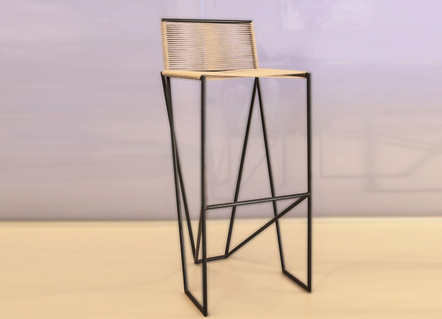 Set sgabelli bar dalia moderni in ferro e alluminio colore oro