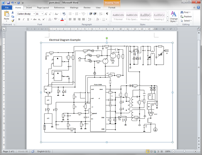 Edraw Create Circuit Diagram For Word 8546f4c3 Resumesample Resumefor Circuit Diagram Diagram Words