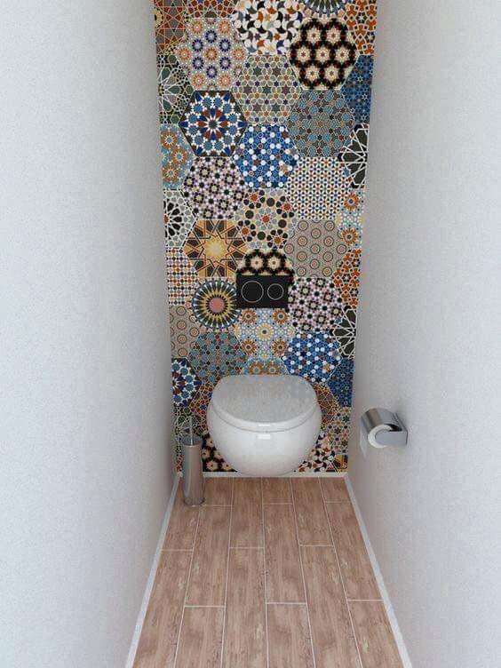 Tile Ideas To Spice Up A Tiny Bathroom Toilet Closet Small Bathroom Small Toilet