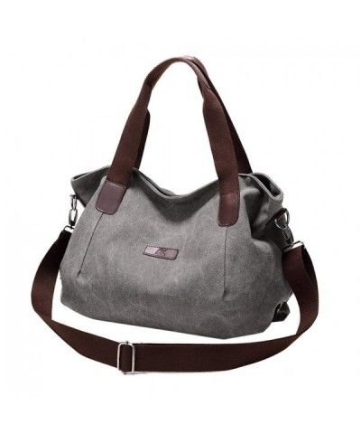 6c1c3c96b7 Women s Travel Handle Handbags Casual Shoulder Bag Canvas Hobo Totes Bags -  Grey - CF17YSOWZID