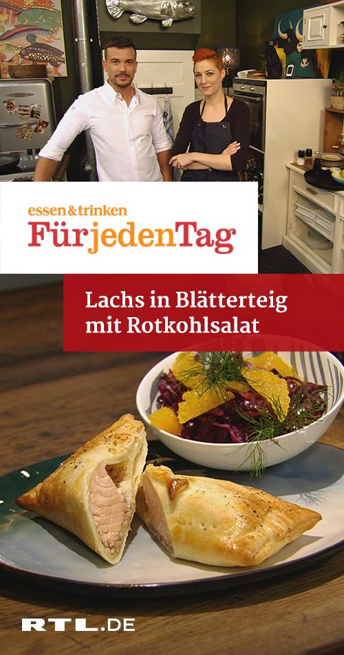 Lachs in Blätterteig mit Rotkohlsalat | RTLplus - Fr 01.02.