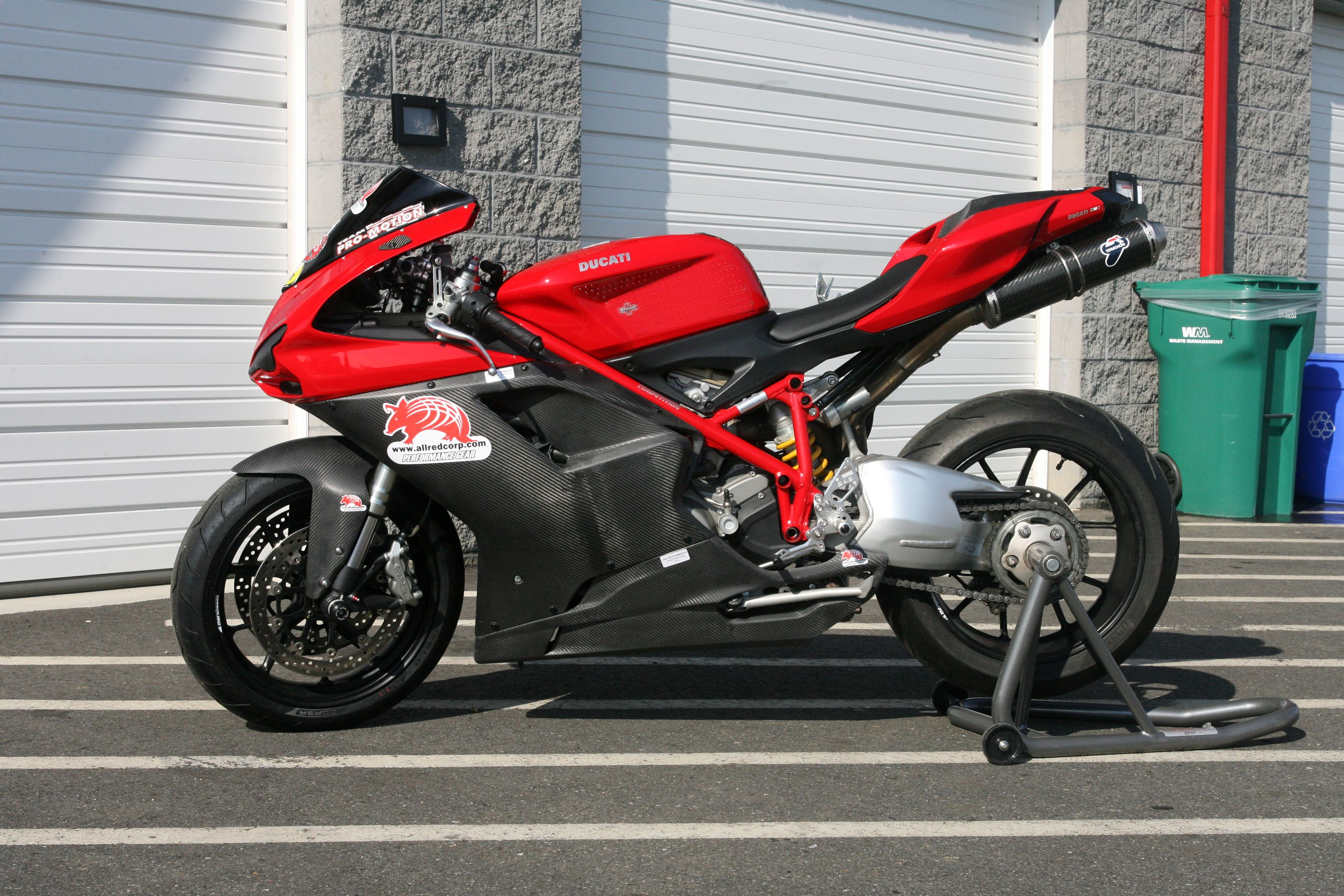 Carbon Fiber Kevlar Street Race Fairing On Ducati 848 Fast And