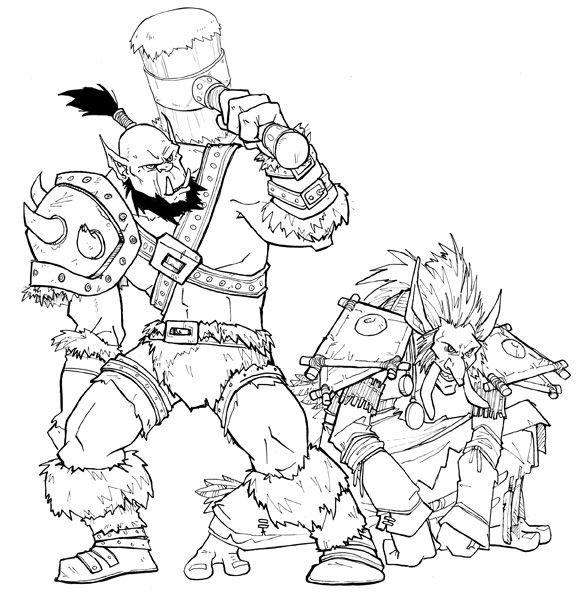 Warcraft Horde Coloring Books Coloring Pages Coloring Book Pages