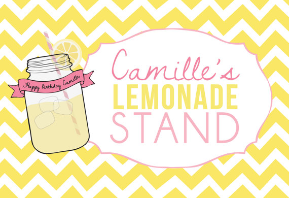 graphic regarding Lemonade Sign Printable identified as Printable bash signal Solar and Lemonade through