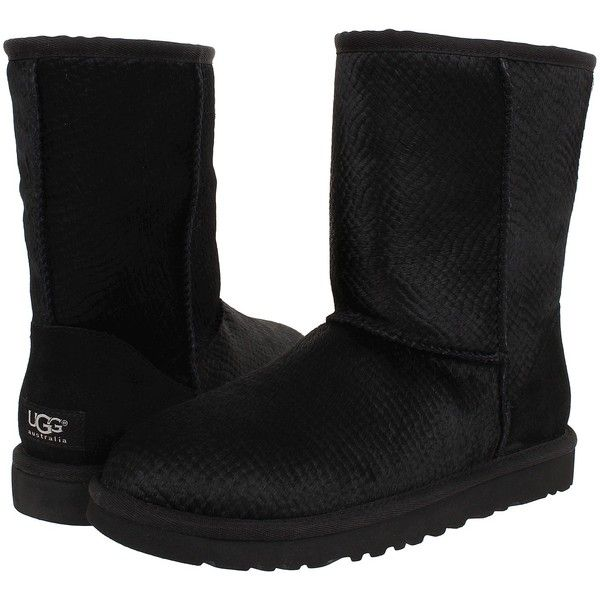 UGG CLASSIC SHORT SCALES - Classic ankle boots - black NtJicdb3