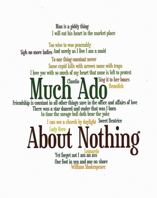 Much Ado About Nothing Quotes Much Ado About Nothing by rachel_ashmore430, via Flickr  Much Ado About Nothing Quotes