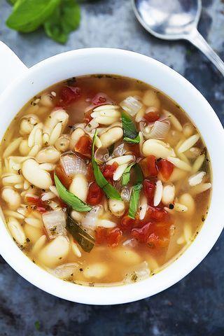 Italian White Bean & Orzo Soup