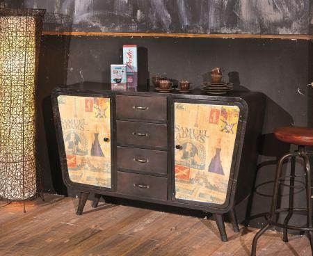Where Retro Meets Vintage Super Hip Industrieel Dressoir Brown DrawersChest FurnitureBrown FinishSideboard