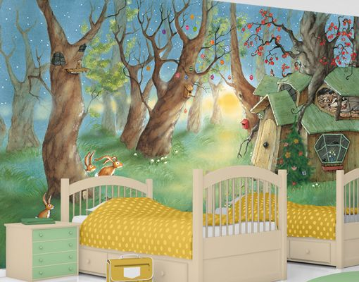 kinderzimmer gestalten wald kinderzimmer wald ebay. Black Bedroom Furniture Sets. Home Design Ideas