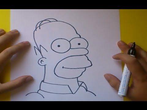 Como Dibujar A Homer Simpson Paso A Paso Los Simpsons How To Draw Homer Simpson The Simpsons Youtu Dibujo Paso A Paso Como Dibujar Cosas Homero Simpson