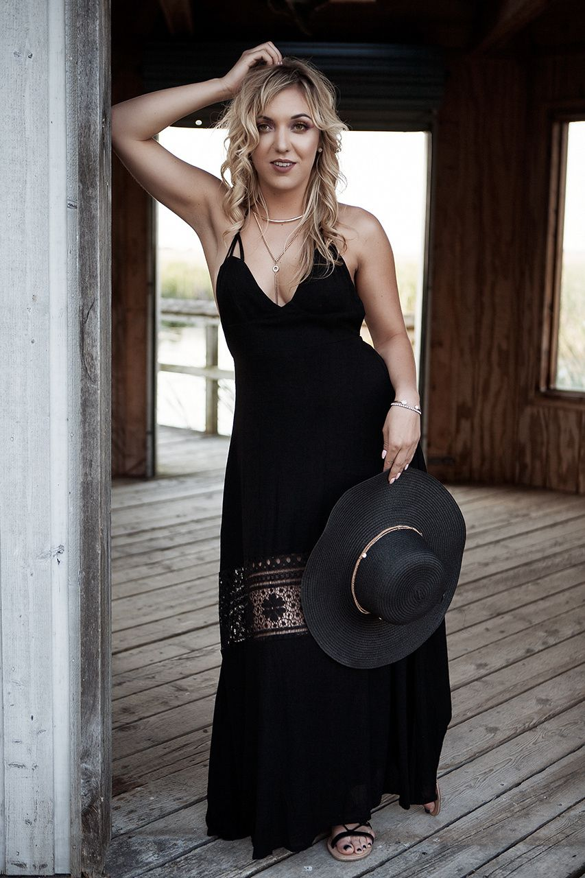 Bohemian girl blonde beauty leah boho style on location at point